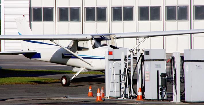 Installation de dépot pétrolier pour aviation